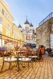 Vie di vecchia Tallinn, Estonia immagine stock libera da diritti
