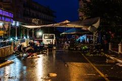 Vie dopo il bazar del distretto Immagini Stock