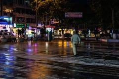 Vie dopo il bazar del distretto Immagine Stock
