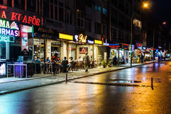 Vie dopo il bazar del distretto Fotografia Stock