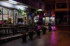 Vie dopo il bazar del distretto Fotografie Stock