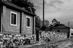 Vie e case antiche fotografia stock libera da diritti