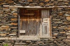 Vie e case in villaggio Ushguli Immagine Stock Libera da Diritti