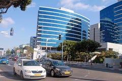 Vie e costruzione moderna a Herzliya, Israele Fotografie Stock