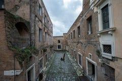 Vie e costruzioni di Roma Fotografia Stock Libera da Diritti