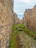 Vie e ville di Pompei, Italia Lista del patrimonio mondiale fotografie stock libere da diritti