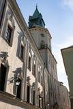 Vie ed architettura di vecchia città di Lublino Immagini Stock