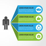 Vie humaine Infographic horizontal plat images stock