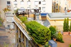 Vie incantanti di Genova, Italia Vecchia citt? famosa dell'Italia, con bella architettura, case, tetti, costruzioni sopra fotografie stock libere da diritti