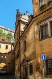 Vie medievali ed architettura a Praga Fotografia Stock Libera da Diritti