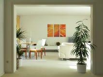 Vie moderne une salle à manger avec la porte à deux battants Image libre de droits