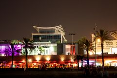 Vie nocturne à Barcelone Photo stock