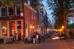 Vie nocturne d'Amsterdam, Hollandes Photographie stock