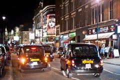 Vie nocturne dans Soho, Londres Images libres de droits