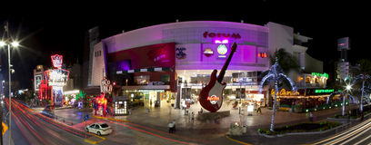 Vie nocturne de Cancun (panoramique) Image libre de droits