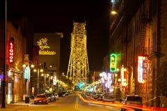 Vie nocturne de Duluth Images libres de droits