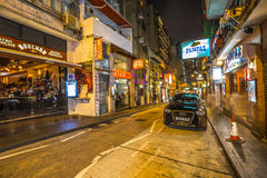 Vie nocturne de Hong Kong Images libres de droits