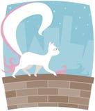Vie nocturne de Kitty Illustration Libre de Droits