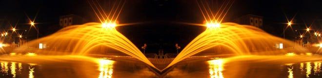Vie nocturne de l'Espagne : lumières de nuit photographie stock libre de droits