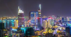 Vie nocturne de scintillement de Saigon Photos libres de droits
