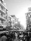 Vie occupate di Delhi retro Immagine Stock