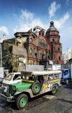 Vie occupate di traffico nella città centrale di Manila le Filippine Asia fotografia stock libera da diritti