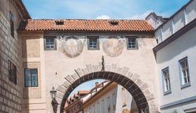 Vie pittoresche e vicoli della città ceca di Cesky Krumlov Fotografia Stock Libera da Diritti