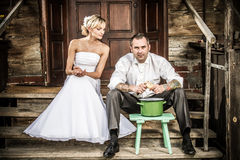 Vie quotidienne de jeunes couples Images libres de droits