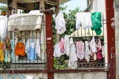 Vie quotidienne des Philippins dans la ville Philippines de Cebu images libres de droits