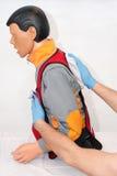 Vie respiratorie del corpo estraneo soffocamento Fotografia Stock Libera da Diritti