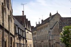 Vie singolari pittoresche del ` s di Cirencester vecchie Fotografia Stock