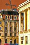 Vie on some monuments (Opera) in Wroclaw, Poland Royalty Free Stock Images