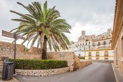 Vie storiche del ` Eivissa del porto d di Ibiza fotografia stock libera da diritti