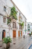 Vie storiche del ` Eivissa del porto d di Ibiza immagine stock