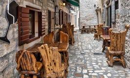 Vie strette di Trojir Croazia Immagine Stock