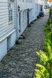 Vie variopinte nel centro di Bergen in Norvegia - 6 Immagine Stock Libera da Diritti