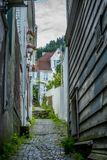 Vie variopinte nel centro di Bergen in Norvegia - 1 Immagine Stock Libera da Diritti