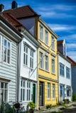Vie variopinte nel centro di Bergen in Norvegia - 8 Fotografia Stock