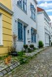 Vie variopinte nel centro di Bergen in Norvegia - 19 Immagini Stock Libere da Diritti
