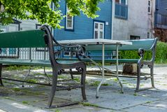 Vie variopinte nel centro di Bergen in Norvegia - 2 Fotografia Stock