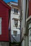 Vie variopinte nel centro di Bergen in Norvegia - 3 Immagine Stock Libera da Diritti