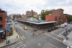 Vie vuote nel distretto di imballaggio della carne a New York Fotografia Stock Libera da Diritti