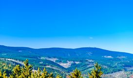Vie from Wernigerode to the Brocken in the Harz mountain royalty free stock images