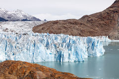 The Viedma Glacier, Patagonia, Argentina. The Viedma Glacier with its ice mass created the lake of the same name, Glacier National Park, Patagonia, Argentina Stock Image