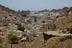 Vieew over Muscateldruif, Oman stock afbeeldingen