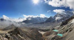 Vieews de Kalapattar, 5545m Image libre de droits