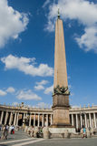 Vief obelisk od St Peter kwadrata, Watykan Obraz Stock