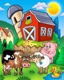 Vieh nähern sich Stall Lizenzfreie Stockfotografie