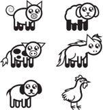 Vieh-umreißen stock abbildung