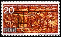 Viehfries, Humboldt-Universitäts-serie, circa 1970 lizenzfreie stockbilder